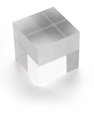 Bloc plexiglas d'agencement 50 x 50 x 50 mm