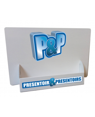 Présentoir carton A4 paysage PRSTA4 personnalisé