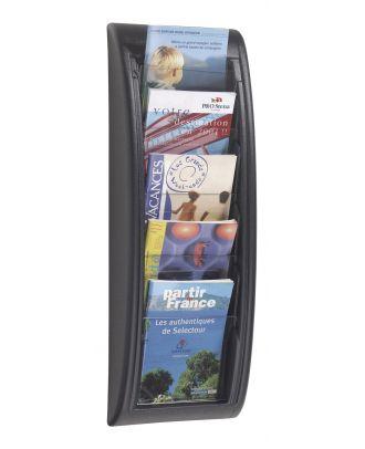 Porte brochures A5 mural PAP5A5N avec documents A5 en situation