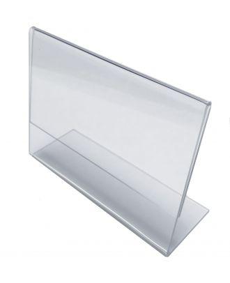 Porte étiquette plexi incliné A7 horizontal PLIA7H de travers