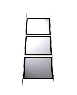 Kit 3 porte-affiches A4 LED horizontal KT3LEDA4H vide