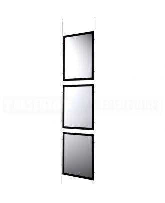 Kit 3 porte-affiches A4 LED vertical KT3LEDA4V