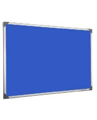 Tableau en feutrine bleu 60 x 90 cm cadre alu