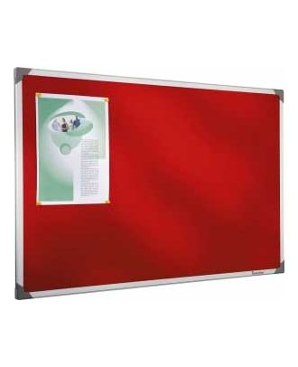 Tableau en feutrine rouge 45 x 60 cm cadre alu