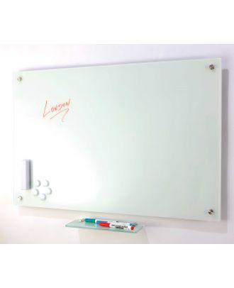 Tableau en verre blanc 100 x 150 cm magnétique