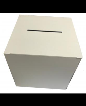 Urne carton blanche vierge 25 x 25 x 25 cm