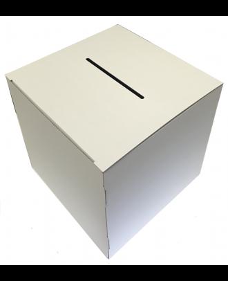 Urne carton blanche vierge 15 x 15 x 15 cm